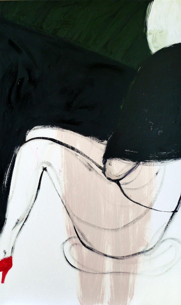 Indoor temperature 2013 Oil on canvas 153x91cm