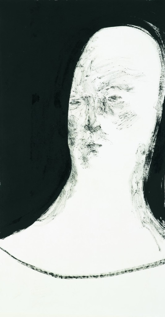 Left Right (Left)  Ink on paper 146 x 76 cm 2012